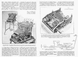 """LA MACHINE à ECRIRE ADDITIONNEUSE  """" UNDERWOOD """"  1911 - Sciences & Technique"""