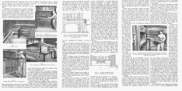 CHAUFFAGE Au GAZ DES FOURS DE BOULANGERIE    1911 - Sciences & Technique