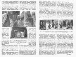 LES LIGNES ELECTRIQUES SOUTERRAINES  De PARIS   1911 - Sciences & Technique