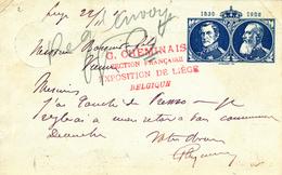 287/27 - EXPO De LIEGE Section Française Sur Entier Postal Grosse Barbe  LIEGE Guillemins 1905 Vers VIENNE France - Entiers Postaux
