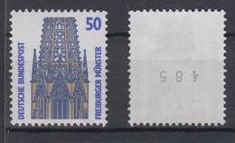 Bund 1340 A V Rollenmarke Ungerade Nummer SWK 50 Pf Weiße Gummierung Postfrisch - BRD