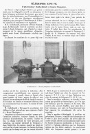 """TELEGRAPHIE SANS FIL L'alternateur  """" GOLDSCHMIDT """" à HAUTE FREQUENCE    1911 - Sciences & Technique"""