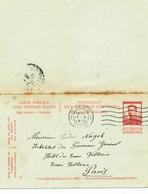 288/27 -  Entier Postal Pellens Double (avec Réponse) LIEGE 1913 Vers PARIS - Entiers Postaux