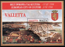 Malta Mini Sheet To Celebrate Treasures Of Malta In Unmounted Mint Condition From 1998. - Malta