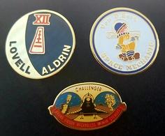 - PINS NASA X 3 - LOVELL - ALDRIN - VANDENBERG - CHALLENGER - ESPACE - Space