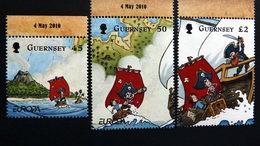 "Guernsey 1297/9 **/mnh, EUROPA/ CEPT 2010, Kinderbücher, ""The Adventures Of Penny The Postie"" Von Keith Robinson - Guernsey"