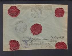 Dt. R-Brief 1939 Nach Jugoslawien Zollamt Geöffnet - Deutschland
