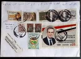 Syria ,Syrie,Pres. Hafez AL-Assad ,MS. 1998 ,letter . - Syrien
