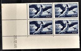 FRANCE 1936 / 1947 - BLOC DE 4 PA / Y.T. N° 18  - COIN DE FEUILLE / DATE / NEUFS** - Coins Datés