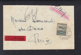 Dt. Reich Expresbrief 1936 Nach Paris Devisenüberwachung - Briefe U. Dokumente