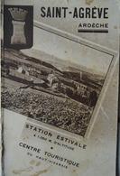 SAINT-AGRÈVE (ARDÈCHE) GUIDE TOURISTIQUE ANCIEN (vers 1930) HAUT-VIVARAIS - Rhône-Alpes