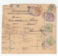 Post-Begleitadresse Italian Indirizzo Postale Accompagnatorio Stationery 1896 Imst To Pakrac B180910 - Briefe U. Dokumente