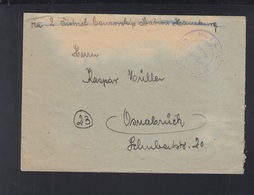 Alliierte Besetzung Brief Civilian Internment Camp Nr. 6 Lager I/3 - Bizone