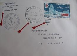 """A155 - ✉️ PAQUEBOT """"TAHITIEN """" - CàD : BALBOA PAQUEBOT (PANAMA) 12 MAI 1969 - COURRIER DEPOSE EN PLEINE MER - Marcophilie (Lettres)"""