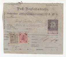 Post-Begleitadresse Stationery 1892 Nestelbach To Pakrac B180910 - Covers & Documents