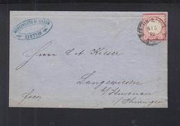 Dt. Reich Faltbrief 1872 Stettin Polen Poland - Deutschland