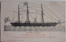 Civitavecchia - Corvetta Pontifica, Che Trovavasi Nelle Acque Del Porto Di Civitavecchia Anno 1870 - CPA 1902 - Unclassified