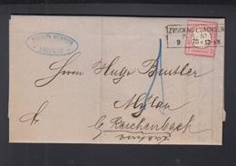 Dt. Reich Faltbrief 1873 Zwickau - Deutschland