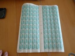 Feuille Complète Gomme Imparfaite Millésime Coin Daté Pour étude Variétés TP Gandon 4 F émeraude N°807 - Feuilles Complètes