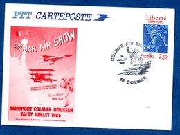 Carte / Colmar Air Show / 26 Juillet 1986 - Maximum Cards