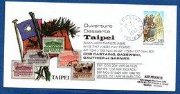 Enveloppe  / Ouverture Desserte Taipei - Postmark Collection (Covers)