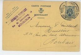 BELGIQUE - MOUSCRON - MOESKROEN - Carte De Correspondance D' AUGUSTE VANTOMME - HUISSIER à MOUSCRON - Mouscron - Moeskroen