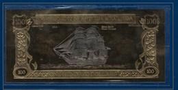 Billet Or Et Argent, 100 $ ( Black Bart's Royal Fortuna ) - Fictifs & Spécimens