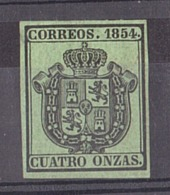 Espagne - 1854 - Timbre De Service N° 3 - Neuf (*) - Service