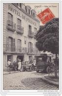 37) CHINON -  Hôtel De France - (devanture , Le Personnel , Autos) - Chinon