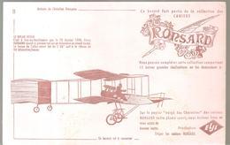 Buvard Aviation Française Collection Des Cahiers Ronsard N°11 Le Biplan Voisin - Transports