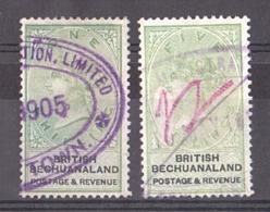 Bechuanaland - Timbres De 1887 N° 16 Et 19 Oblitérés - Filigrane - Reine Victoria - TB - Bechuanaland (...-1966)