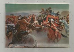 Publicité, Image 3d, Cow Boys , L'attaque De La Diligence ,  G. De Sainte Croix , SARGENOR , Laboratoires Sarget Ambrine - Advertising