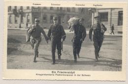 Schweiz - Postcard - Kriegsinternierte Postordonanzen - Franzose / Schweizer / Deutscher / Engländer - Militaire Post