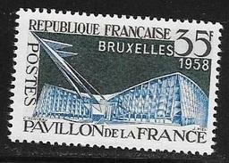 N° 1156   FRANCE  - NEUF  -  EXPOSITION BRUXELLES  -  1958 - Francia