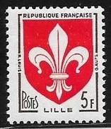 N° 1186   FRANCE  - NEUF  -  ARMOIERIES LILLE   -  1958 - Francia