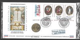 ENVELOPPE NUMISMATIQUE PREMIER JOUR      Tryptique La Révolution 1989 - Münzen