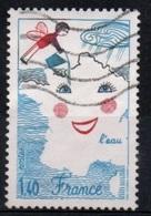 """FRANCE  :Y&T (o) N° 2125 """" L'eau, Dessin D'enfant """" Bras Noir Aulieu De Rouge - Curiosidades: 1980-89 Usados"""