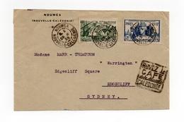 !!! PRIX FIXE : NOUVELLE CALEDONIE, LETTRE DE NOUMEA DE 1939 POUR SYDNEY - Briefe U. Dokumente