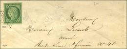 Etoile / N° 2 Sur Lettre De Paris Pour Paris. Au Verso, Càd D'arrivée. 1852. - TB. - R. - 1849-1850 Ceres