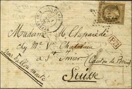 Etoile 2 / N° 30 Càd PARIS / R. ST LAZARE 1 OCT. 70 Sur Lettre Pour ST IMIER (Canton De Bern). Au Verso, Càd PARIS A BAL - Postmark Collection (Covers)
