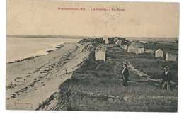 CPA 50 MONTMARTIN-SUR-MER LES CABINES LA PLAGE - Montmartin Sur Mer