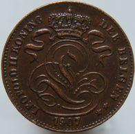 Belgium 1 Centime 1907 XF Belgen - 1865-1909: Leopold II