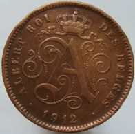 Belgium 2 Centimes 1912 VF - 1909-1934: Albert I