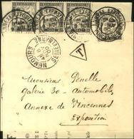 Càd NEMOURS / SEINE ET MARNE Sur Imprimé Partiel Adressé Sous Bande à L'annexe De Vincennes. A L'arrivée Càd ANNEX EXPOS - Postmark Collection (Covers)