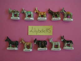 PRE Série Complète De 10 Feves En Porcelaine NOS AMIS LES ANES 2005 ( Feve Figurine Miniature ) - Animals