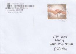 GOOD POLAND Postal Cover To ESTONIA 2018 - Good Stamped: Hands - 1944-.... Republic