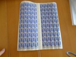 Feuille Complète Gomme Imparfaite Millésime Coin Daté Pour étude Variétés TP Gandon 6F Bleu Violet N°720 Variété Mèches - Feuilles Complètes