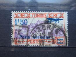 """VEND BEAU TIMBRE DE POSTE AERIENNE DE TUNISIE N° 10 , CACHET """" BIZERTE """" !!! - Poste Aérienne"""