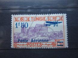 VEND BEAU TIMBRE DE POSTE AERIENNE DE TUNISIE N° 10 , X !!! - Poste Aérienne