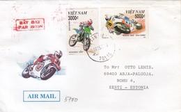 GOOD VIETNAM Postal Cover To ESTONIA 2002 - Good Stamped: Motorcycles - Vietnam